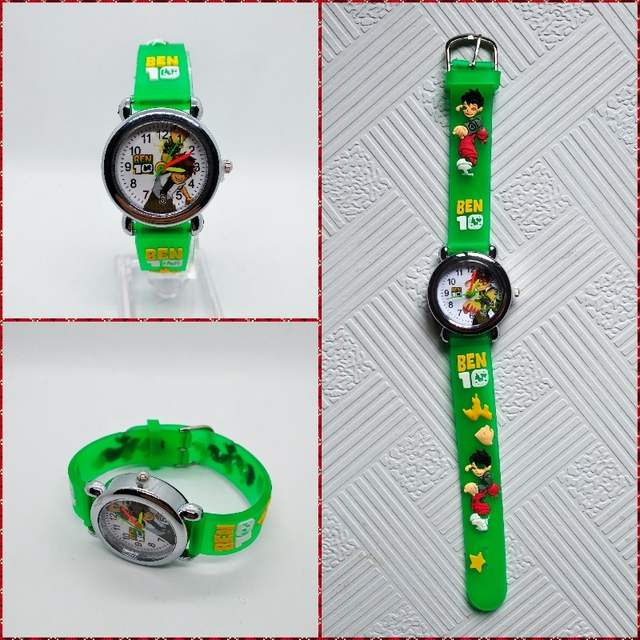 Children Watch Cartoon Ben 10  Quartz Kids Watches Spiderman Child Wristwatches For Boys Students Sports Clock Relogio Hombre