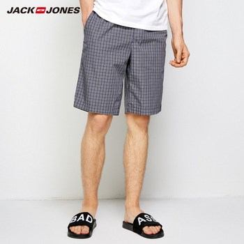 JackJones Men's Plaid Pattern Drawstring Casual Shorts Soft Boxer Pajama Sexy Nightwear Underpants Home wear E|2183HD501