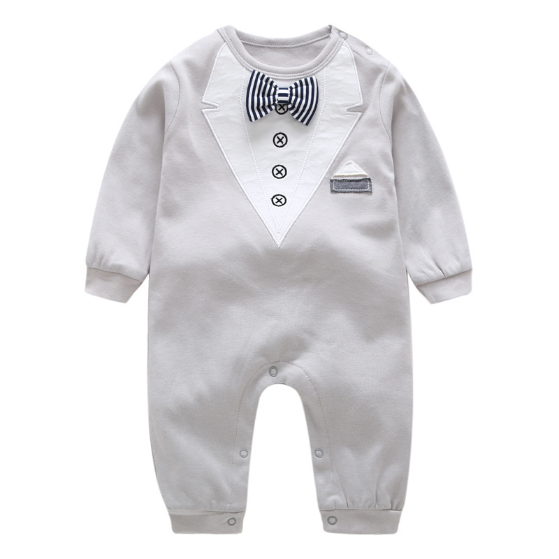 VTOM Autumn Baby Rompers Infant Boys Clothes Newborn Long-Sleeved  Jumpsuits