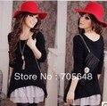 FYX1523 ПОСЛЕДНЯЯ красивая леди мода вязание повседневная dress big size dress XL-3XL