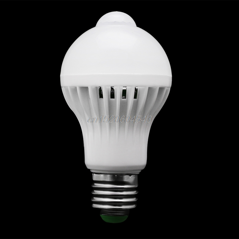 E27 5W/7W/9W LED PIR Motion Sensor Auto Energy Saving Light Lamp Bulb Infrared R06 Drop Ship eco cat led pir motion sensor bulb warm cold 220v 5w 7w 9w 12w induction light auto led lighting e27 infrared body sensor lamp