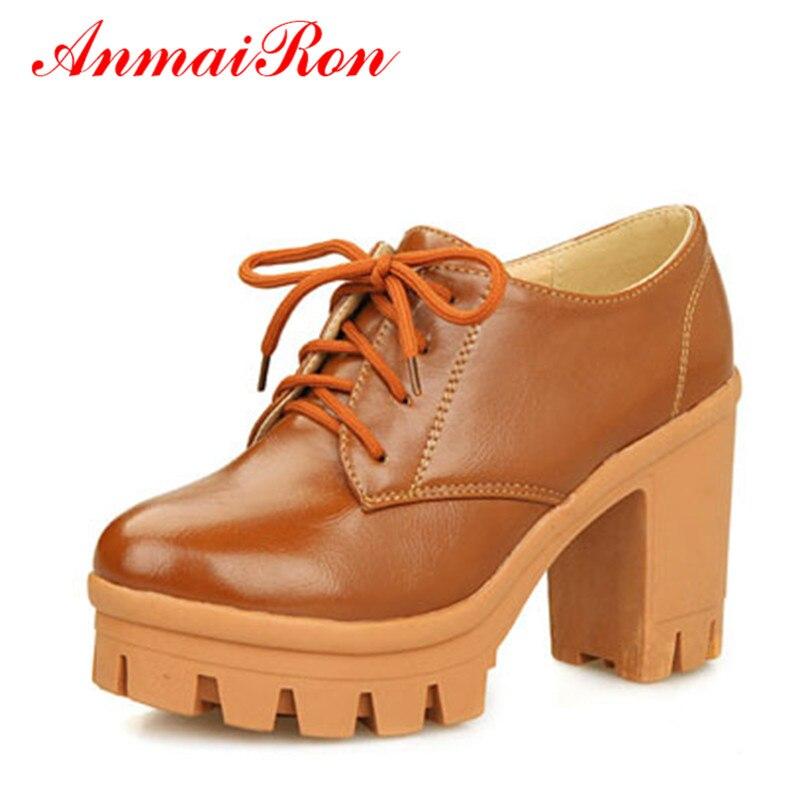 a13bc1b6d ANMAIRON Plus Size 34-43 Mulheres de Carreira Escritório Sapatos Mulheres  Bombas Mulheres Sapatos de Salto Alto Casual Bombas Plataforma 10 cm sapatos  ...