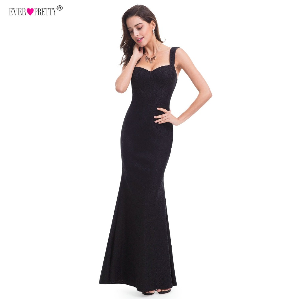 Когда-либо красивые вечерние платья Sexy Русалка Нескользящие Платье черного цвета EP07041 2018 женщина официальная Вечеринка платья vestido de festa longo