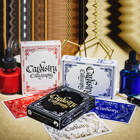 Cardistry Calligraphy Art Flower Cut Collection Poker Playing Cards Maigc Props