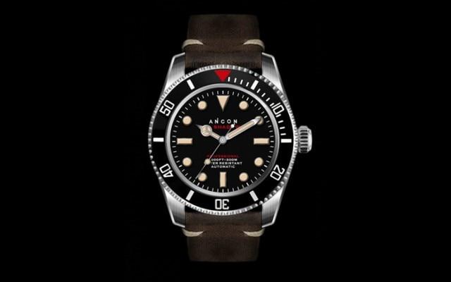 Top-grade autentica ancon mare ombra ii 41.5mm SEA203 diving orologio con  cinturino in 10a10c02fd3b