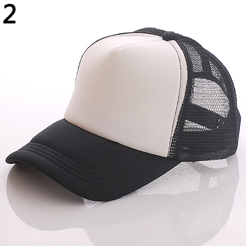 Unisex Attractive Baseball Cap Trucker Mesh Blank Visor Adjustable Sun Hat 4pcs set smoke sun rain visor vent window deflector shield guard shade for hyundai tucson 2016