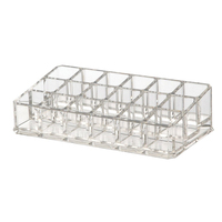 18 Slot Clear Acrylic Trapezoid Makeup Lipstick Display Stand Storage Rack Holder Cosmetic Organizer