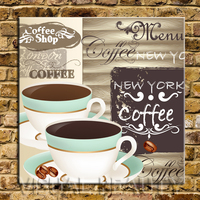 FREE SHIPPING New York Coffee Shop Word Canvas Arts Print Paintings Shop Decoration(Unframed)70X70cm