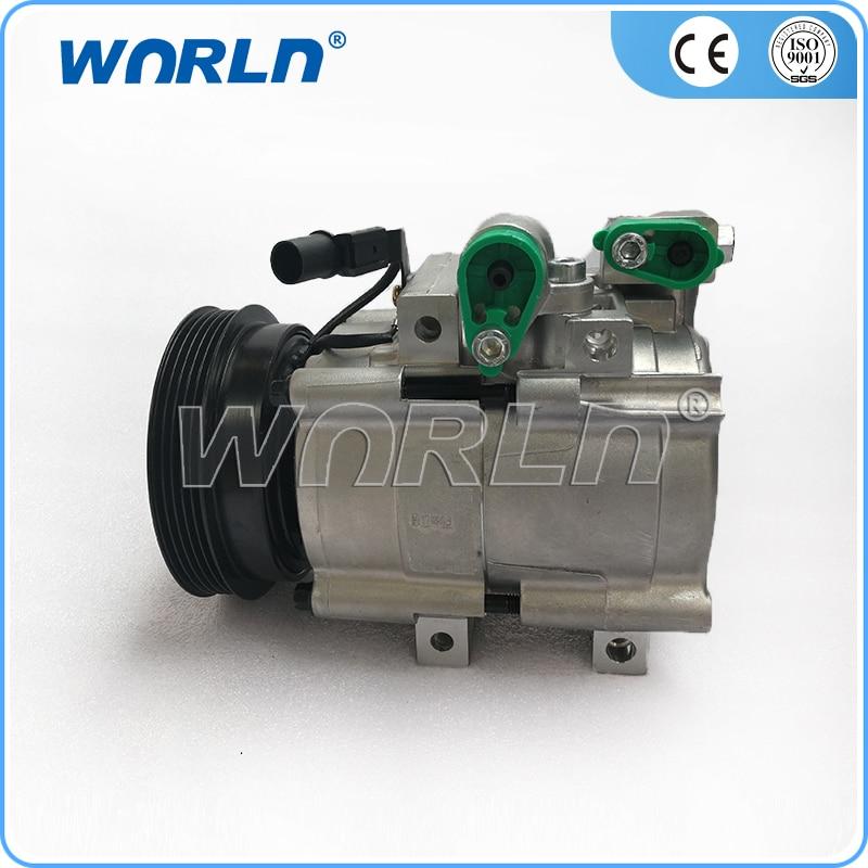 Auto ac compressor for hyundai Santa 2.4 TRAJET 2.0,2.7/Kia Optima/Santa Fe 97701-3A580/97701-3A680/97701-26011/97701-3A570 no o ring turbos td025 49173 02412 49173 02410 28231 27000 for hyundai elantra santa fe trajet tucson kia carens ii 2 0 crdi