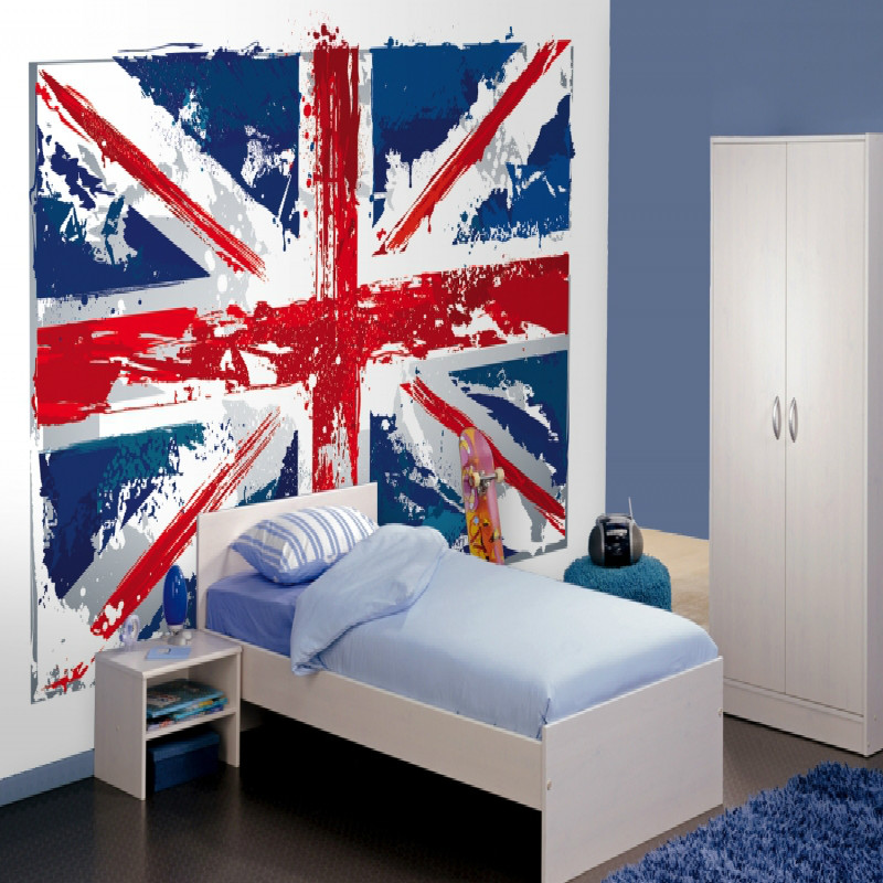 Union jack bedroom home design for Union jack bedroom ideas