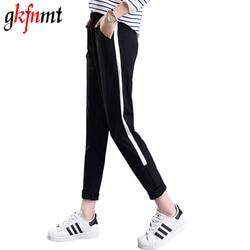 Sweatpants women casual pants xxl drawstring waist loose pants for women spring autumn black striped side.jpg 250x250