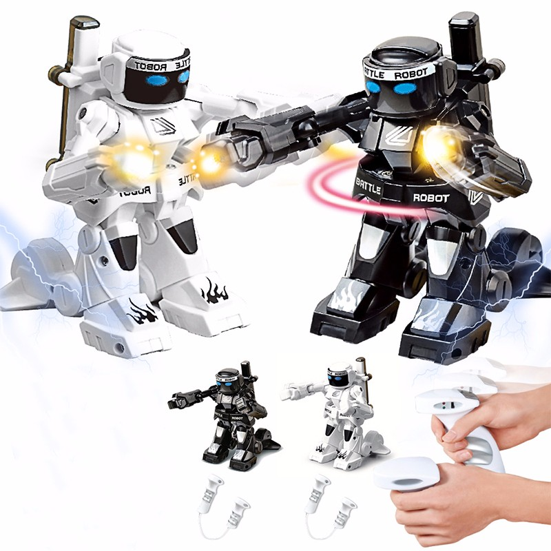 2.4G somatosensory remote control battle robot toy double competitive fight against robot toy children pet machine dog toy hot sale short plush chew squeaky pet dog toy