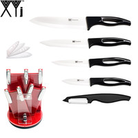 XYj Sharp White Blade Ceramic Knives Cooking Set 3 Paring 4 Utility 5 Slicing 6 Chef