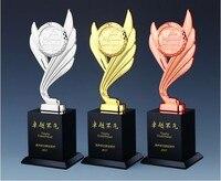 Hot! DIY De Alta qualidade Terra troféu de metal asas de ouro/prata/cobre troféu  Frete grátis