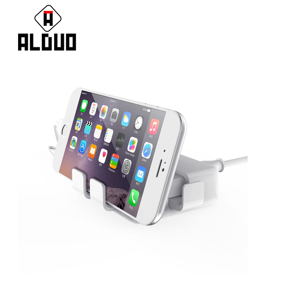 ALANGDUO 4 usb Universal Travel USB <font><b>Charger</b></font> Adapter EU US Plug <font><b>Wall</b></font> Mobile <font><b>Phone</b></font> Smart <font><b>Charger</b></font> for iPhoneTablet Xiaomi Red SONY