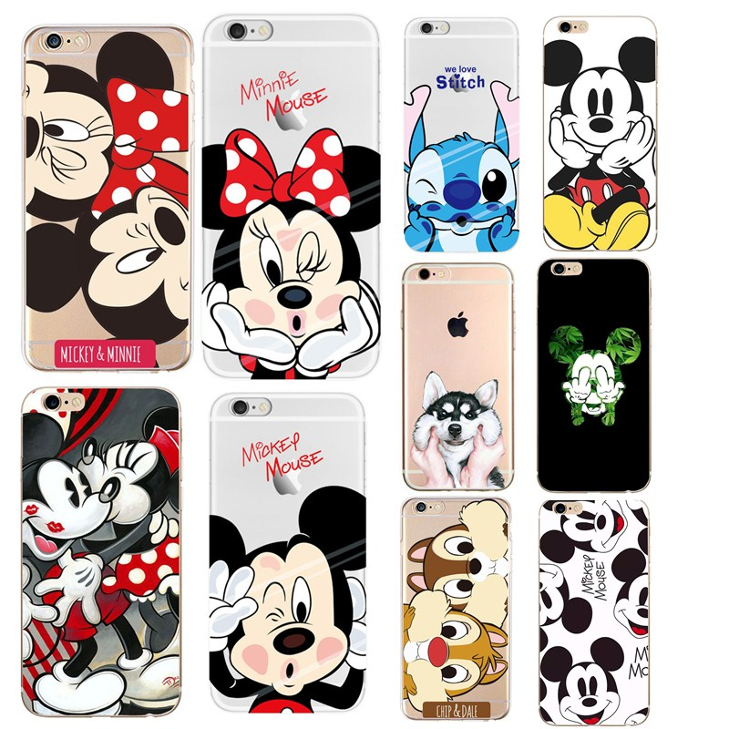 Cases, Covers & Skins Minnie Mickey Mouse Phone Case For Iphone 6 6s 7 8 Plus Xs Max Matte Conque For Professional Design