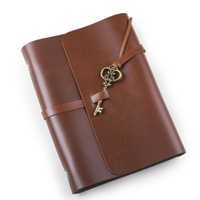 Real Leather Loose leaf Spiral Notebook Diary European Retro Handmade Travel Notebook
