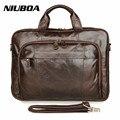 """New Men Business Handbag Genuine Leather Shoulder Bags Men's Business 15"""" Laptop Briefcase Men Messenger Bag Men's Travel Bag"""