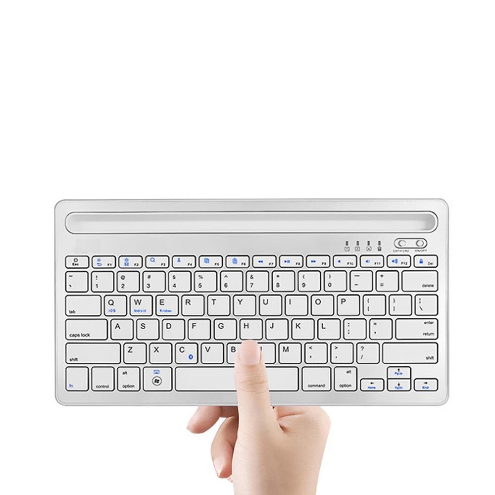 Sans fil Bluetooth 3.0 Mini clavier 78 touches clavier Rechargeable avec fente de Support pour PC téléphone tablette Support Windows Android iOS