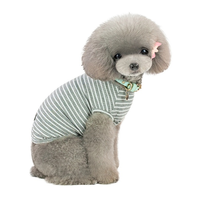 Classical Stripes Dog Summer T-shirt