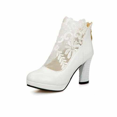 MoonMeek sexy di Nuovo modo cerniera ritagli piattaforma scarpe da donna pompe signore spessi tacchi alti everning partito scarpe da sposa