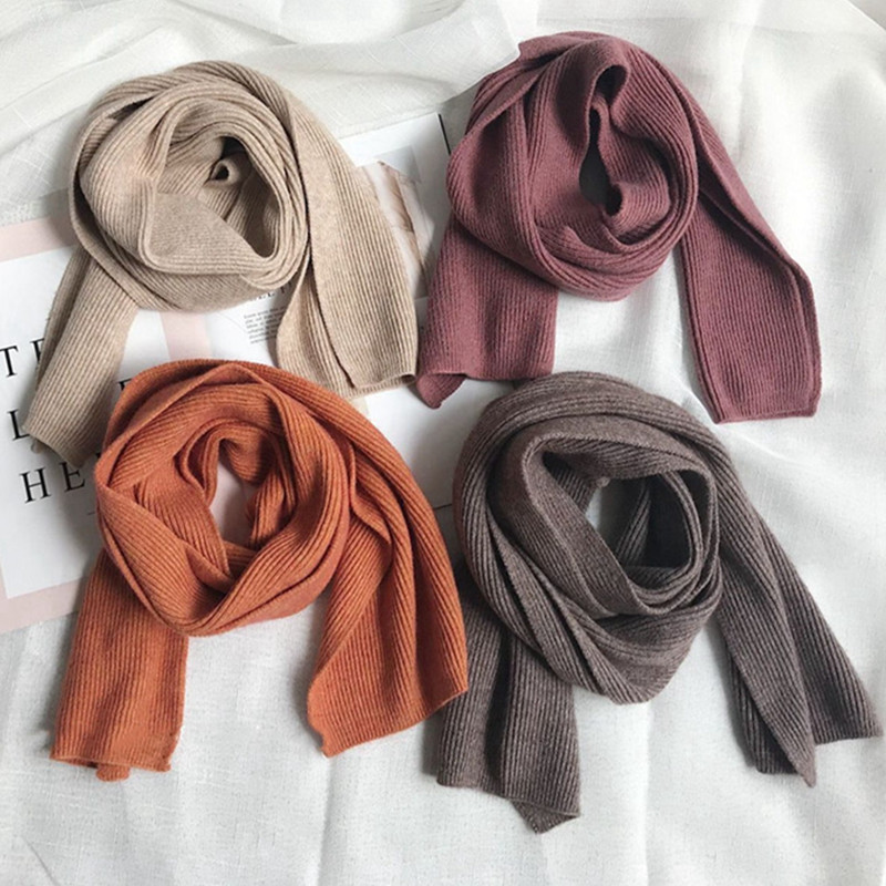 INS Women Fashion Winter   Scarf   Solid Color Rabbit DEHAIR ANGORA Knitted   Scarves     Wraps   Female Ring Neck Warmer 15 Colors YR029