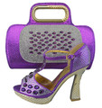 Purple Color Women Shoes and Bag Set Italy Elegant Italian Women Shoes and Bag Set Women Shoe and Bag Sets Ladies Shoes and Bag