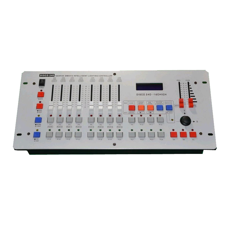 US $72 2 5% OFF|Factory Price Disco 240 DMX Controller DMX 512 DJ Console  Equipment For Stage Wedding And Event Lighting DJ Light Controller-in