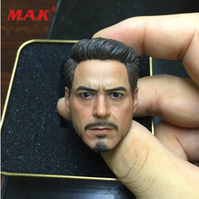 High Quality 1:6 Scale Tony Head Sculpt as Soldier Head Model fit 12