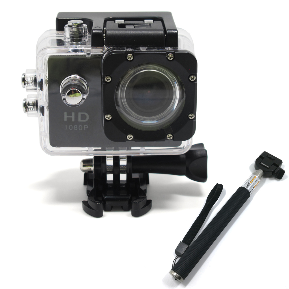 Underwater Action Camera 1080p Wifi Wireless Sports Action Camera Similar Go  pro Dv Manual 1.5 inch + Selfie Stick DV603C1+ZPG-in Sports & Action Video  ...