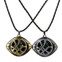 Marvel Superhero Figure Doctor Strange Eye of Agomotto พวงกุญแจของเล่น Avengers Union แว่นตาจี้กระเป๋ารถของขวัญสร้อยคอ