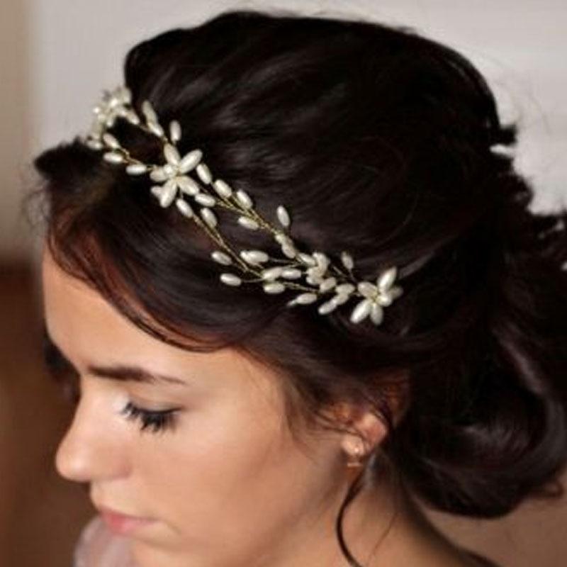 Schoonheid Vrouwen Haaraccessoires Elegant Kristal Parel Bloem Bruids - Mode-sieraden