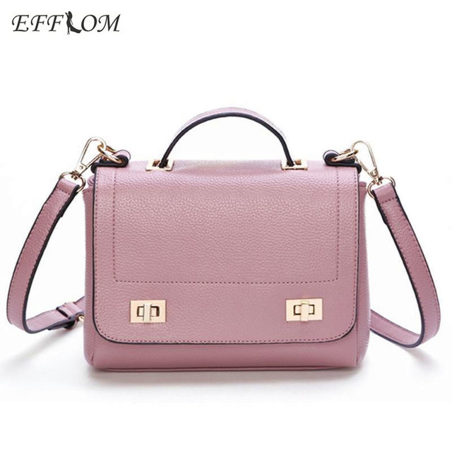 Fashion Summer Bags For Women 2017 Korean Handbags Top Handle Small Messenger Bag Flap Leather