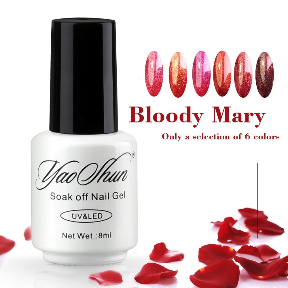 YaoShun 3D Dark Blood Red UV gel nail polish 8ml Soak Off gel ...