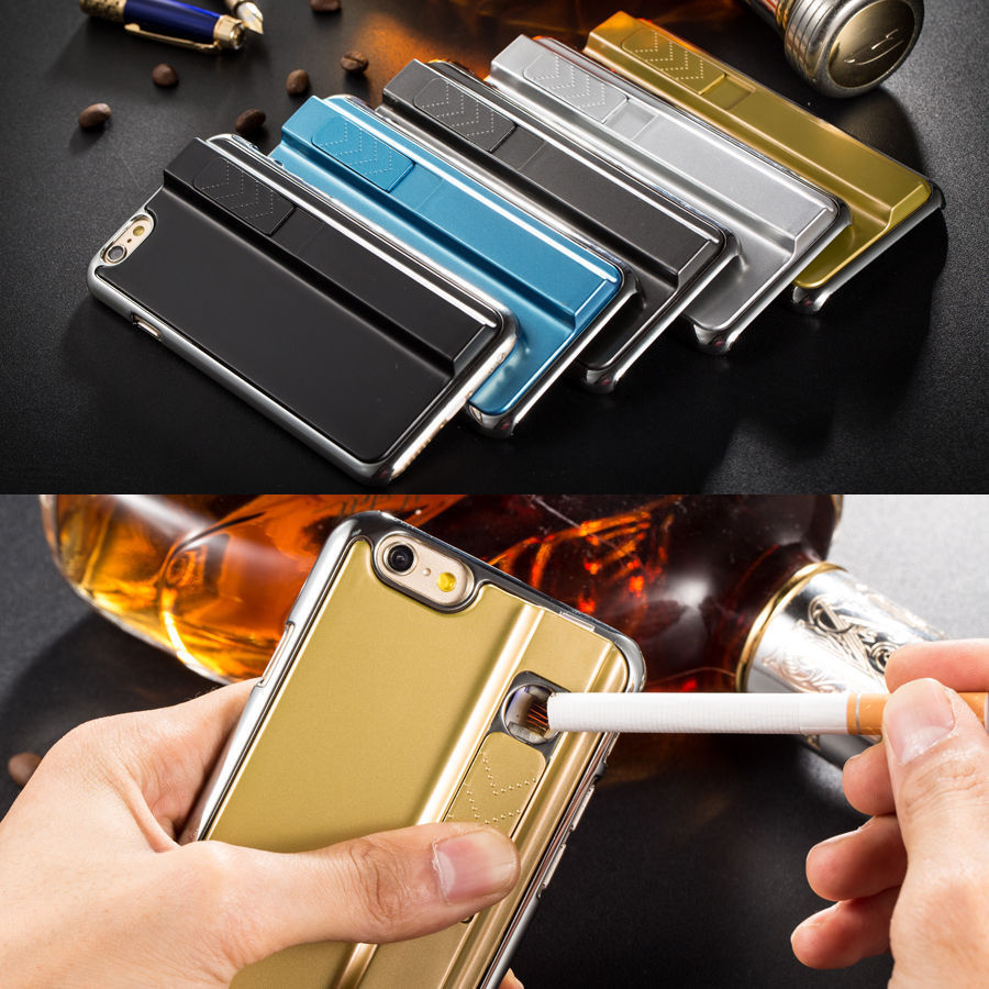 on sale be8fb 34fb5 US $12.89 |2 in 1 Multi Function Fashion Case For iPhone 5 SE 6 6S Plus  Businessman Style Electronic Cigarette Lighter Back Cases Cover on ...