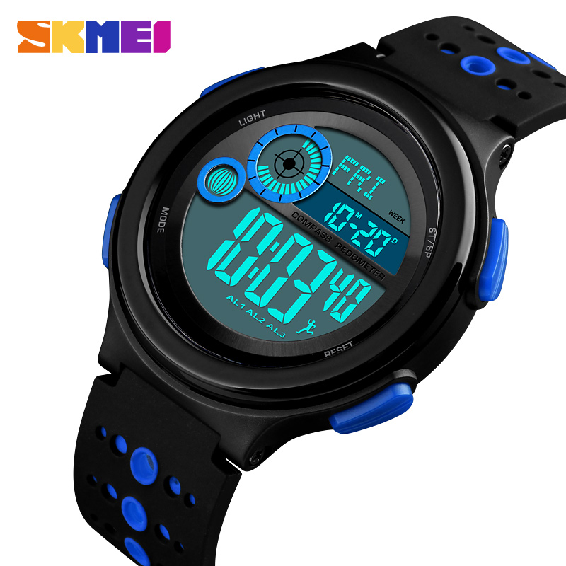 Watches Skmei Luxury Brand Mens Sports Watches Outdoor Compass Military Wrist Watches 50m Waterproof Countdown Digital Watch Relojes Activating Blood Circulation And Strengthening Sinews And Bones