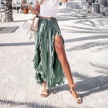 b8fbc52a9 Mujer Capri Pantalones Con Volantes - Compra lotes baratos de Mujer ...