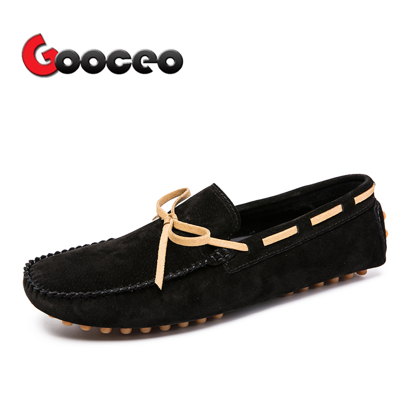 Men's Loafers Moccasins Flats Driving Doug Shoes Boat Slip-On For Men Spring Suede Leather Casual Flat Nubuck Handmade Leisure 3