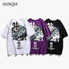 Japanese Printing T-shirts Cool Treetwear Fashion Mens T-shirt Cotton 2019 Tid Hip-hop Loose O-Neck Short-sleeved Tshirt Unisex
