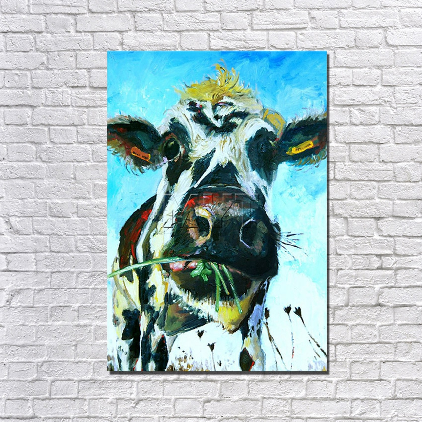 New Animal Wall Decor Framed Wall Art Painting on Canvas High Quality Pictures for Home Decor with Framework Painting