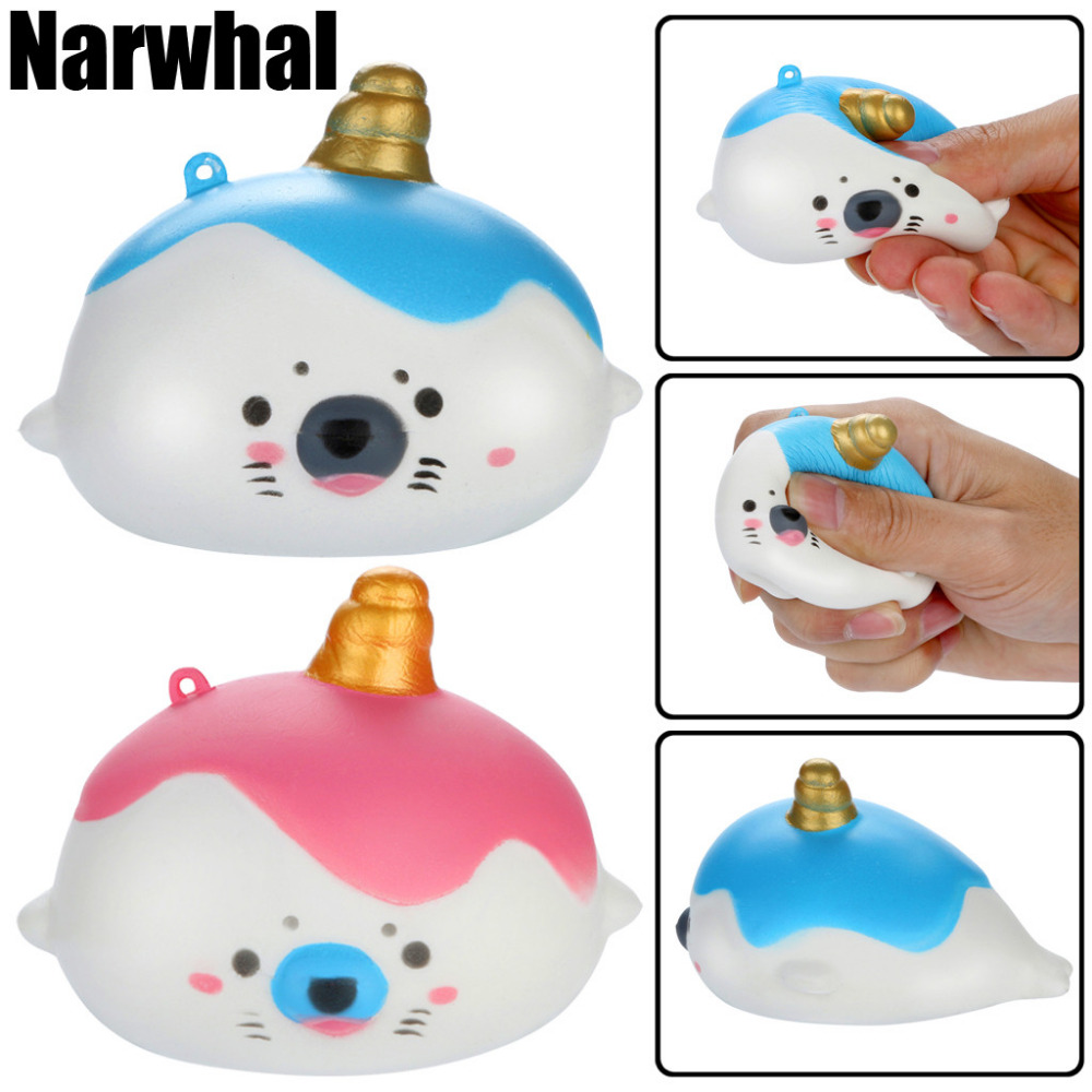 The Cheapest Price 12cm Squishy Soft Slow Rising Pu Squeeze Kids Toys Narwhal Mermaid Phone Decor Squishy Squeezable Stress Reliever Toys Clear And Distinctive Cellphones & Telecommunications