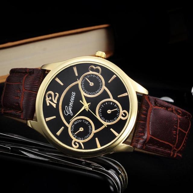 Classic Watch Men Top Brand Luxury Men Watch Leather Clock  3