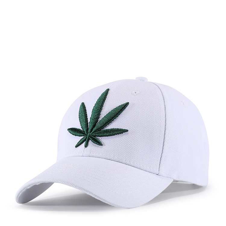 Hemp Leaf Embroidery Sports Outdoors Cap Hip Hop Casquette F