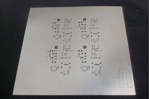 SMT Assembly Stainless pcb stencil manufacturer PCB solder paste Etched / Laser cut printer