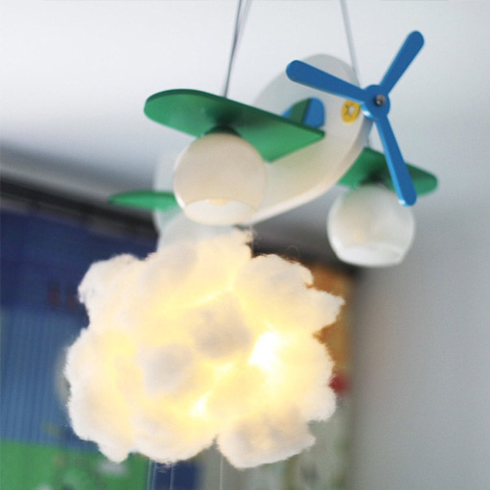 DIY Cotton Cloud Light Hanging Lamp Cartoon Bedroom Corridor Party Decoration Handmade Night Light water drop pattern