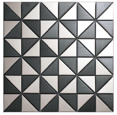 triangle stainless steel metal mosaic tile kitchen backsplash bathroom shower background decorative wall paper saloon ballroom