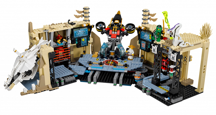 ФОТО 1351Pcs 06039 Building Block Samurai X Cave Chaos Assemble Model Brick Child Birthday Toy Compatible 70596