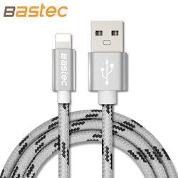 Bastec newest 8 pin metal braided wire sync data charger usb cable for iphone 6 7.jpg 250x250