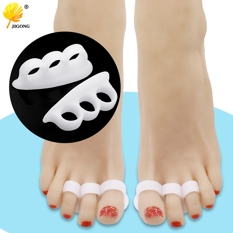 2pcs/1pair Gel Toe Separators Stretchers Alignment Overlapping Toes Orthotics Hammer Orthopedic Cushion Feet Care Shoes Insoles