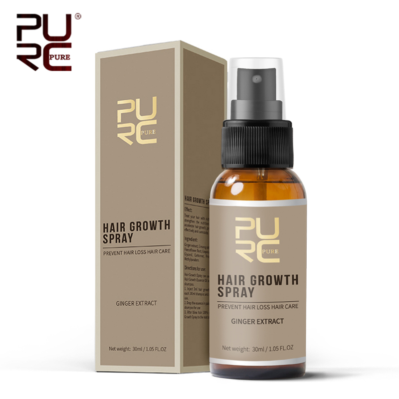 11.11 PURC New Product 30ml Hair Care Treatment Hair Growth Spray Ginger Extract Prevent Hair Loss for Men & Women 5
